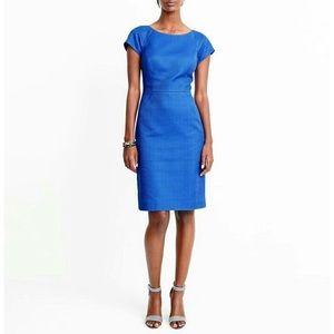 NWT J. Crew Blue Basketweave Work Dress Size 8